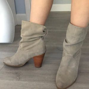 New genuine suede booties super soft!
